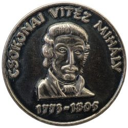 Csokonai Vitéz Mihály ezüstözött