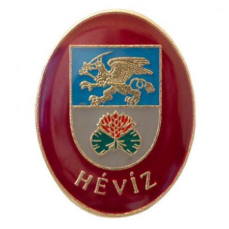 Hévíz város címere (bordó)