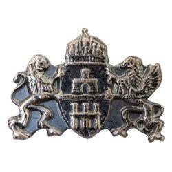 Budapest címer ezüstözött antikolt