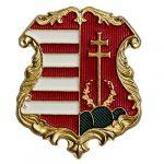 1849-es címer 21x17 mm (magyar álladalom címer)