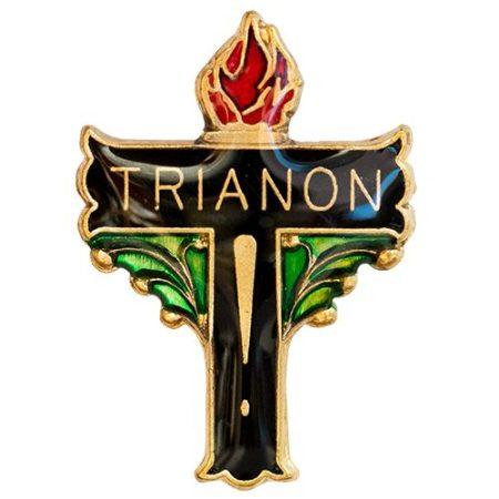 Trianon Kereszt Sárgarezezett Festett Műgyantás