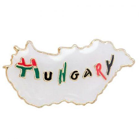 Hungary Felirat Magyarország Kontúrban