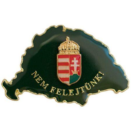 Nem Felejtünk fedőzöld koronás címerrel