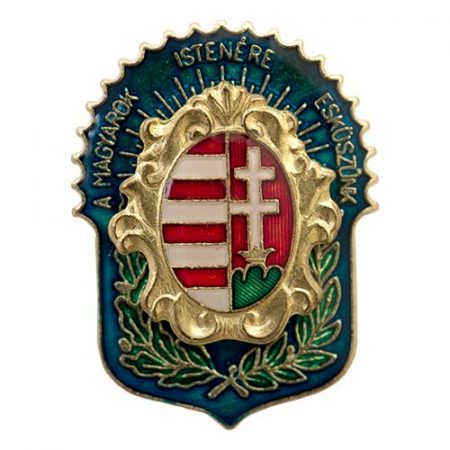MIE Barokk Címerrel Transzparens Kék