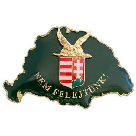 Nem Felejtünk fedő zöld turulos címerrel