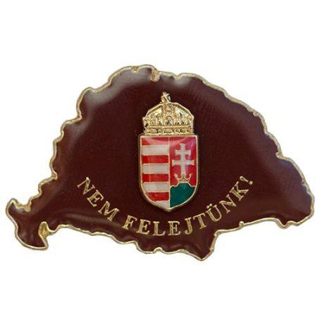 Nem Felejtünk fedő bordó koronás címerrel