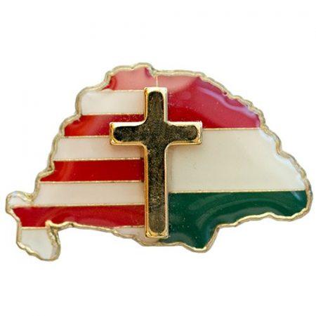 Nagy-Magyarország osztott 27 mm, aranyozott kereszttel