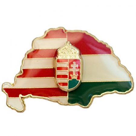 Nagy-Magyarország osztott 27 mm, koronás címerrel