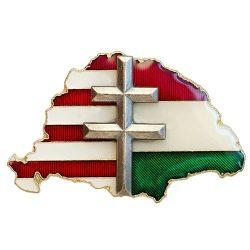 Nagy-Magyarország osztott Transzparens ezüst kereszttel