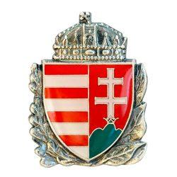 Lombos Magyar Címer 23 mm-es Pajzs Ezüstözött Antikolt