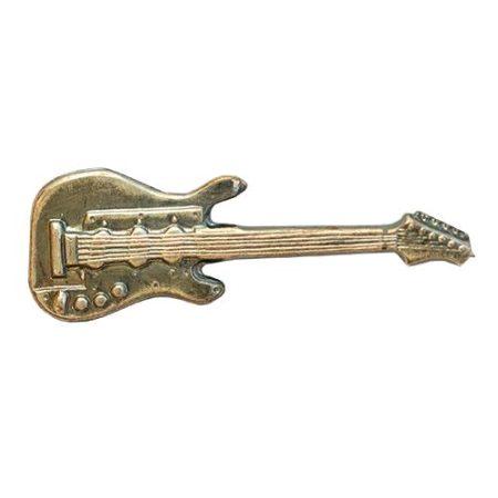 Hangszer-Gitár ezüstözött antikolt