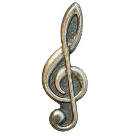 Violinkulcs ezüstözött antikolt