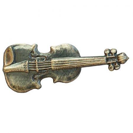 Hangszer-Hegedű ezüstözött antikolt