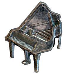 Hangszer-Zongora ezüstözött antikolt