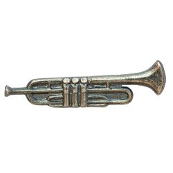 Hangszer-Trombita ezüstözött antikolt