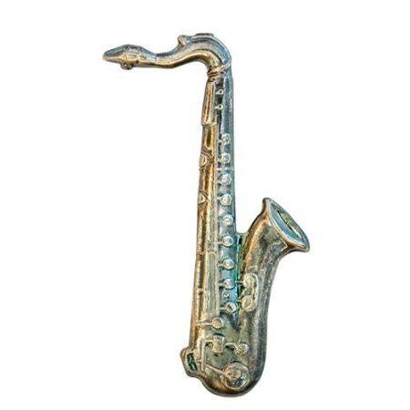 Hangszer-Szaxofon ezüstözött antikolt