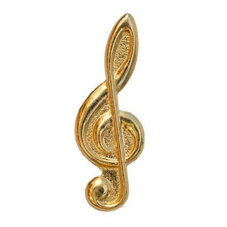 Violinkulcs aranyozott