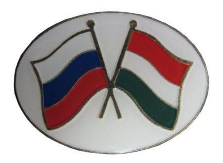 Pároszászló, Orosz - Magyar ovál keretben