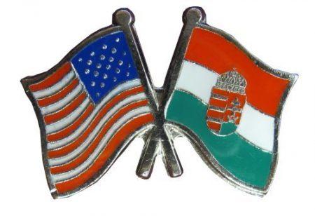 Pároszászló, Amerikai - Magyar címeres