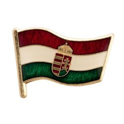Magyar Zászló Címerre 21 mm-es Transzparens