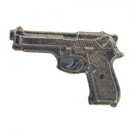 Pisztoly-Beretta ezüstözött antikolt