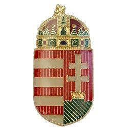 Magyar koronás címer 30 mm csíkozott