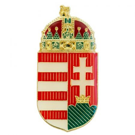 Magyar koronás címer 45 mm csíkozott