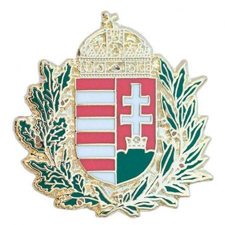 Lombos Magyar Címer Új-generációs Zománc 23 mm-es