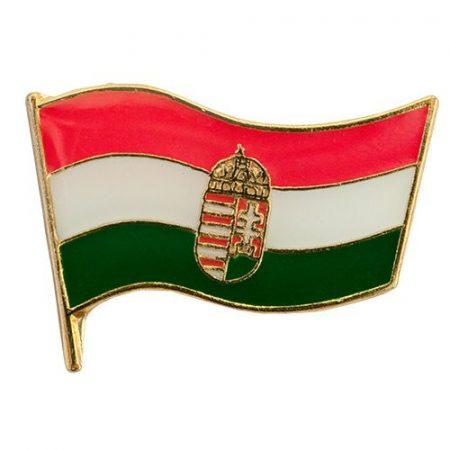 Magyar Zászló Címerrel 18 mm-es