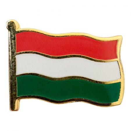 Kis Zászló Magyar 14 mm-es, hidegzománc