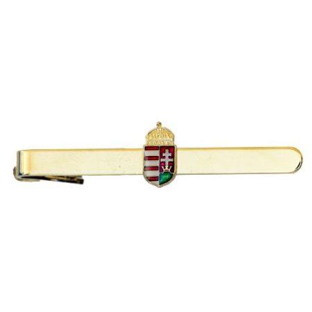 Nyakkendőcsipesz 15 mm-es koronás magyar címer rátéttel