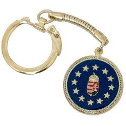 EU csillagos Magyar címeres kulcstartó
