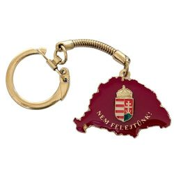 Nem Felejtünk kulcstartó fedő bordó magyar címerrel