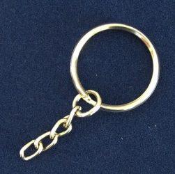 D=25 mm kulcskarika lánccal nikkelezve